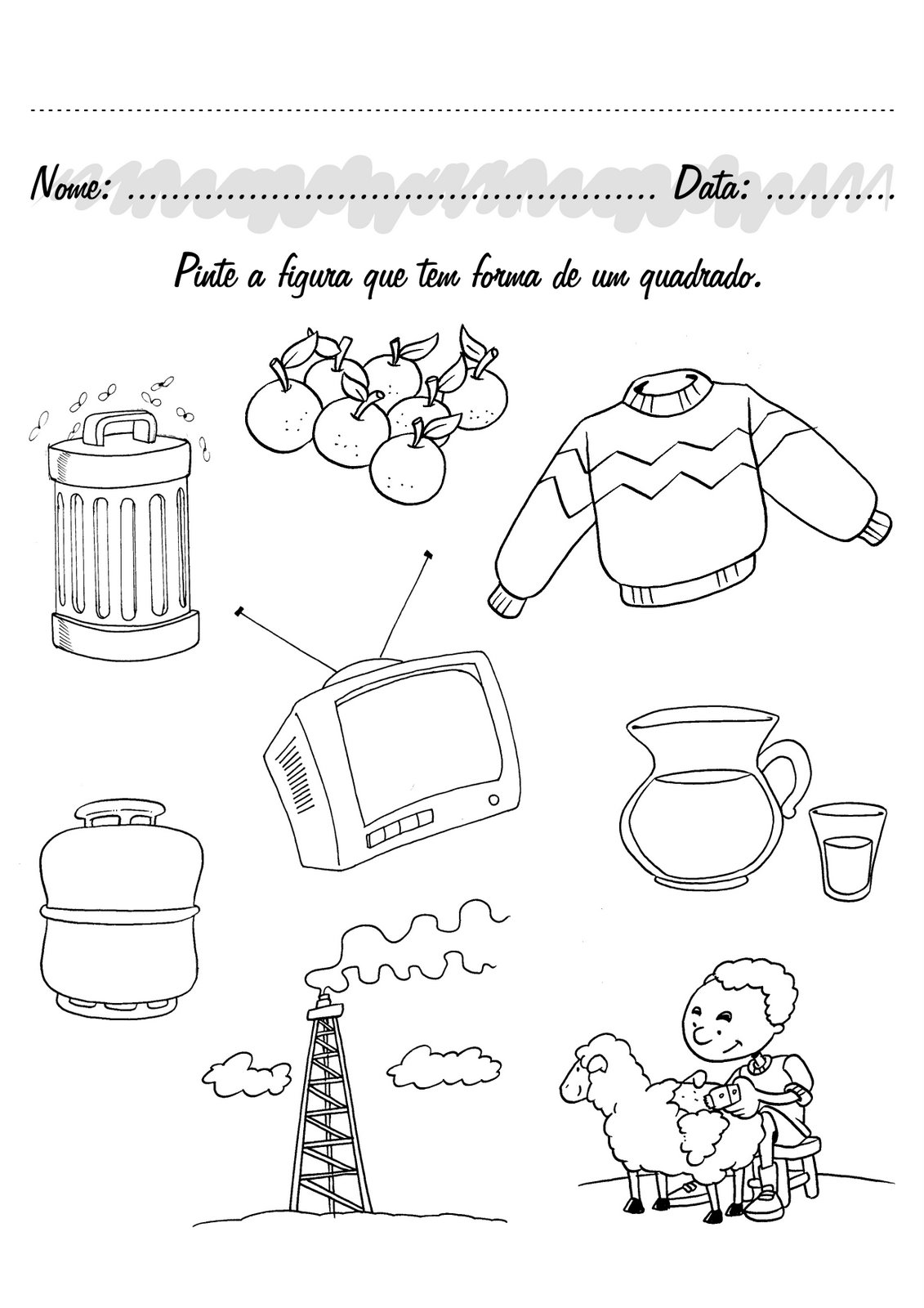 Fabuloso O mundo colorido: Atividades para pré-escolar-Parte 5 IO35