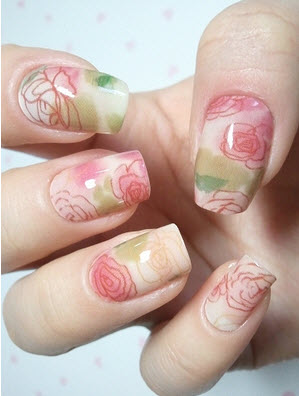 Latest Nail Art Design 2012