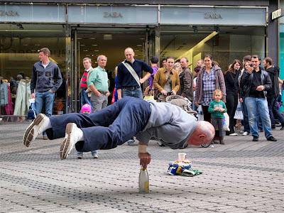 Actuación callejera en Nuremberg