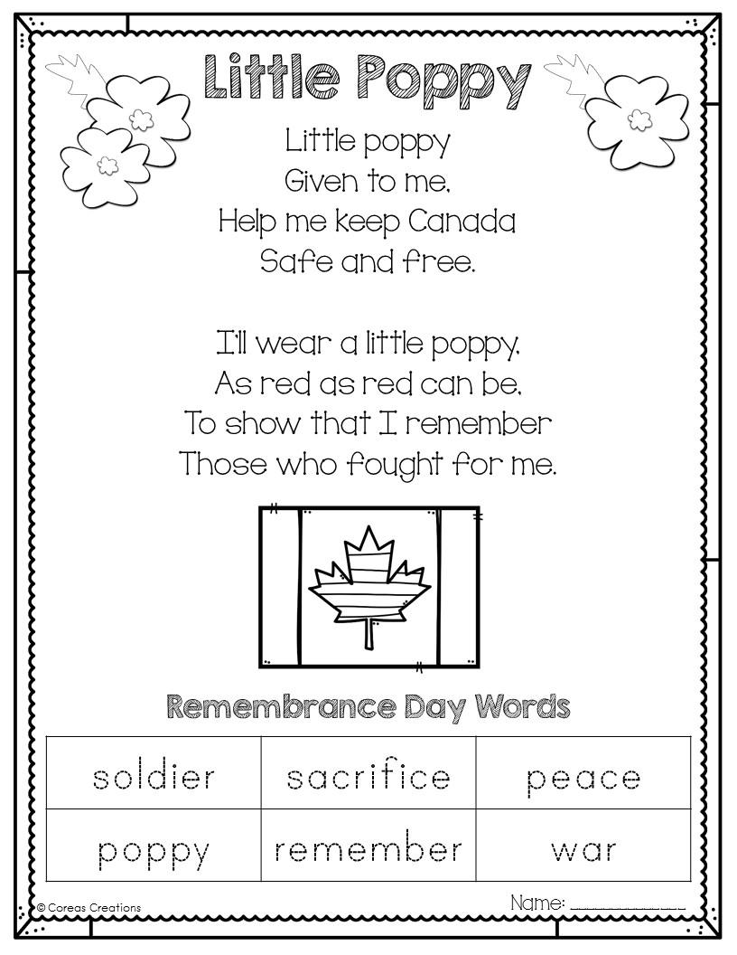 Worksheet Remembrance Day Worksheets Canada Carlos Lomas Worksheet