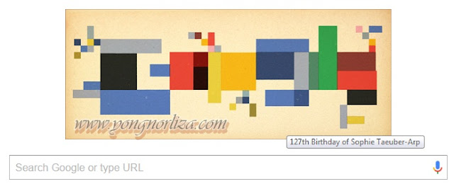 Sophie Taeuber-Arp in Google Today!