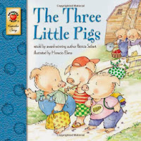 Old storybook of The Three Little Pigs.
