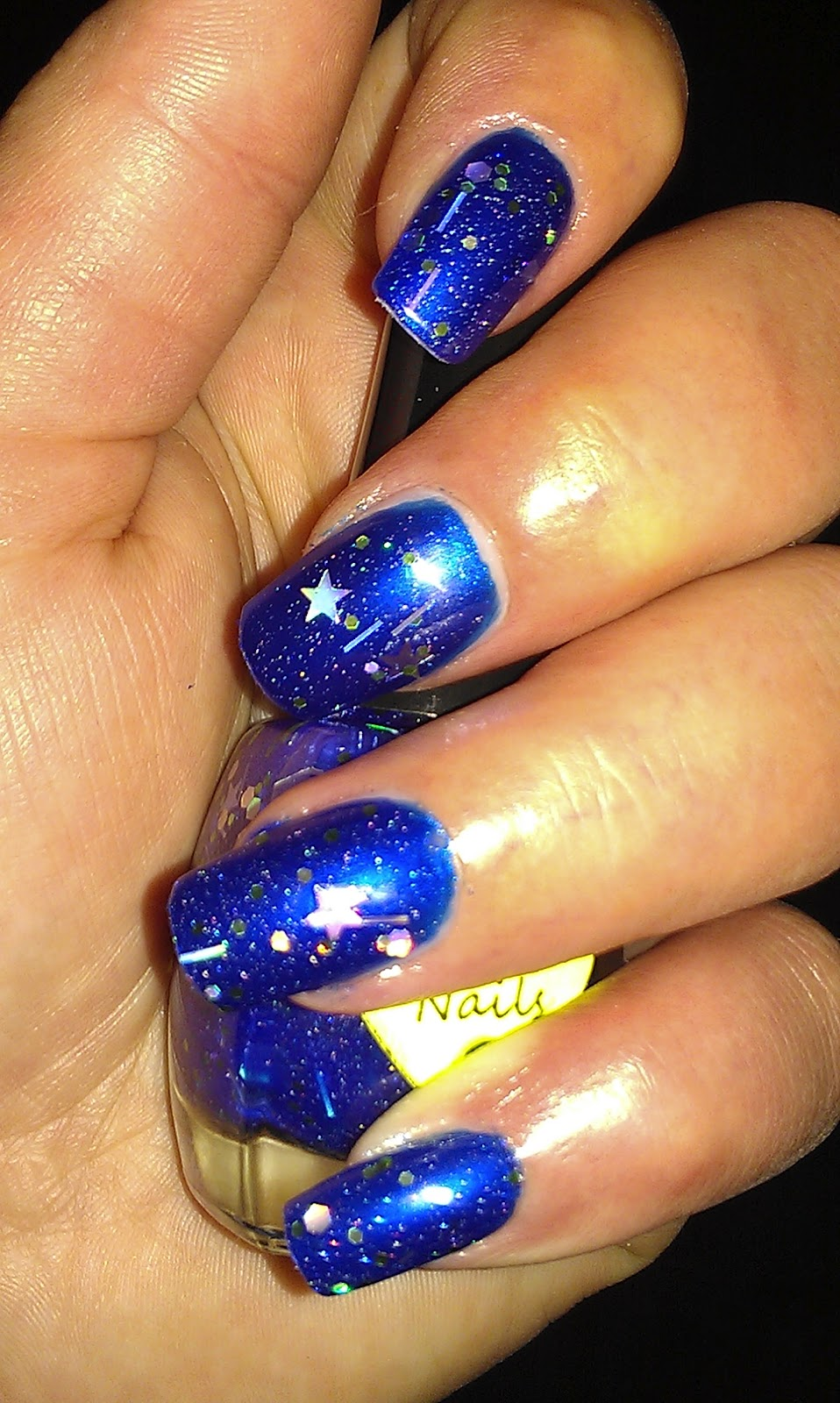 Pictures Of Royal Blue And Silver Acrylic Nails Kidskunstfo