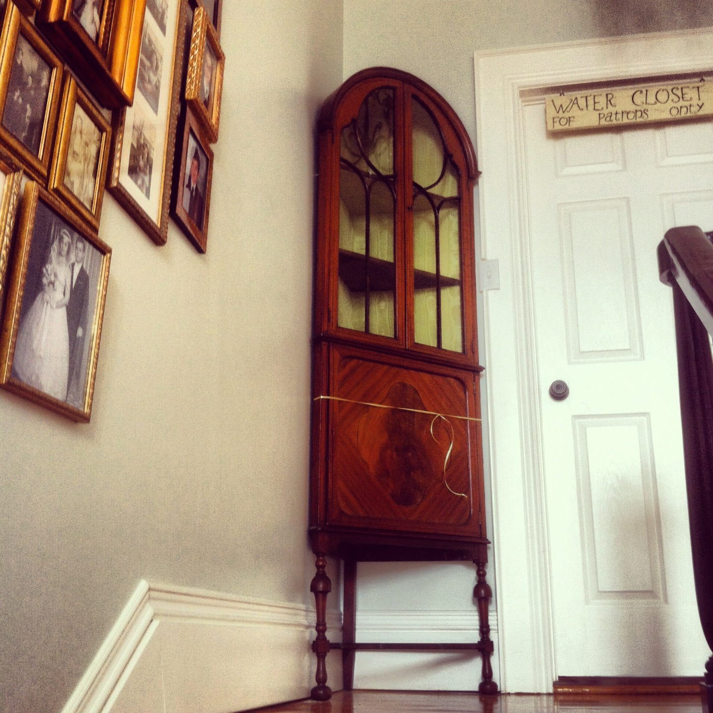 Do you love him Loretta?: New Old Corner Cabinet