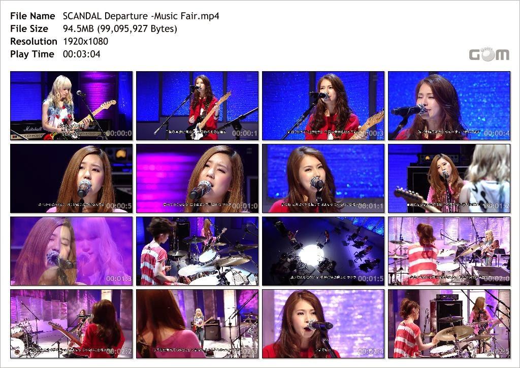 [TV-Music] SCANDAL - Departure @ Music Fair 2014.04.26 SCANDAL+Departure+-Music+Fair_Snapshot
