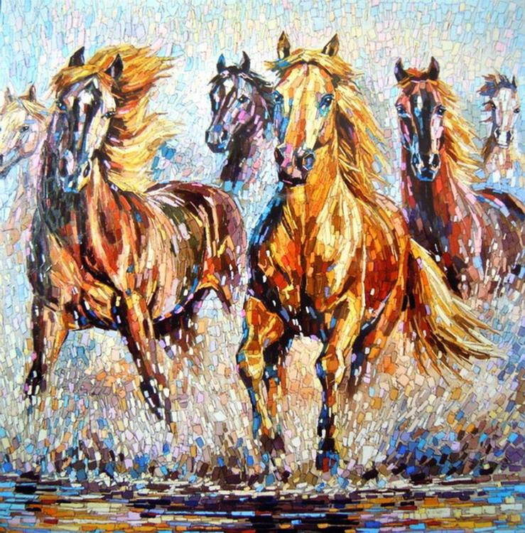 pinturas al oleo paisajes caballos desnudos abstractos