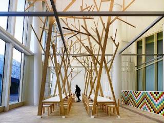 Estudio Nomada, trees, A Cantina, Santiago de Compostela, Spain