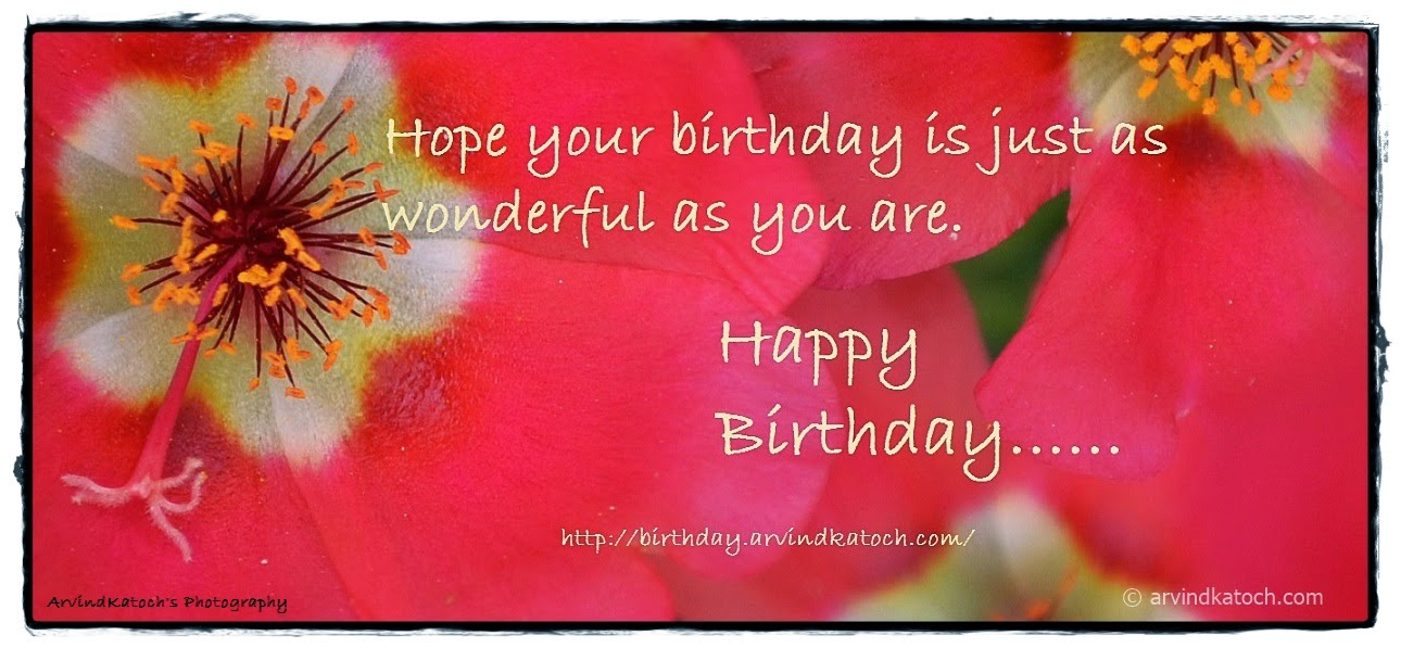 Happy Birthday, Birthday Card, Flower Card, wonderful,
