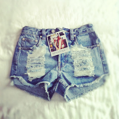 Nasty Gal High Waisted Destroyed Shorts