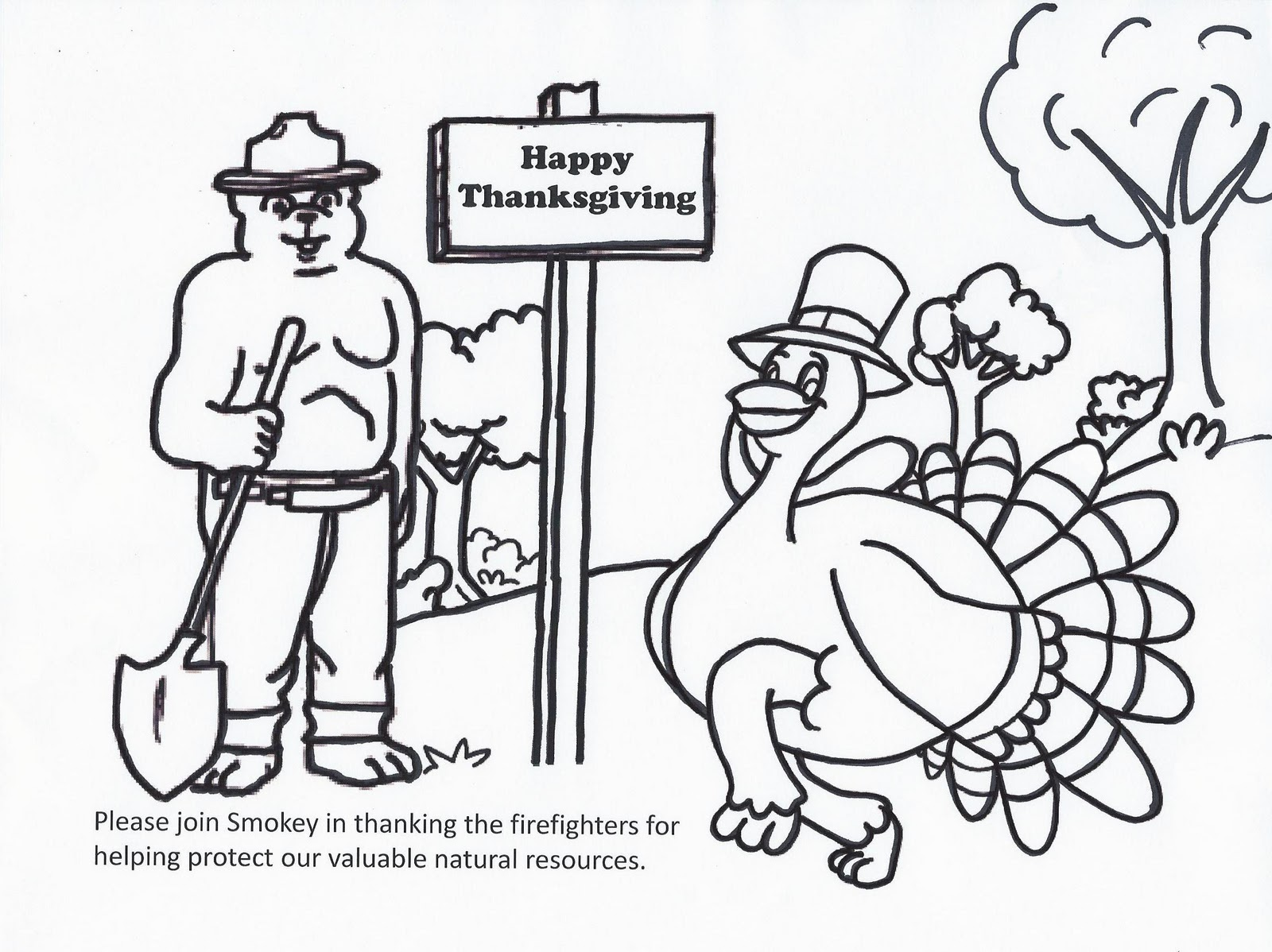 Virginia wildfire information and prevention smokey bear for Smokey the bear coloring pages