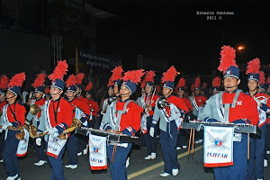 Bandas participantes en desfile de carrozas