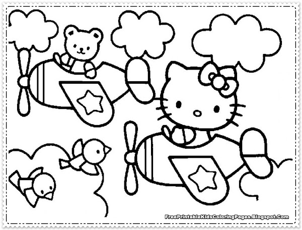 japanese hello kitty coloring pages - photo#28