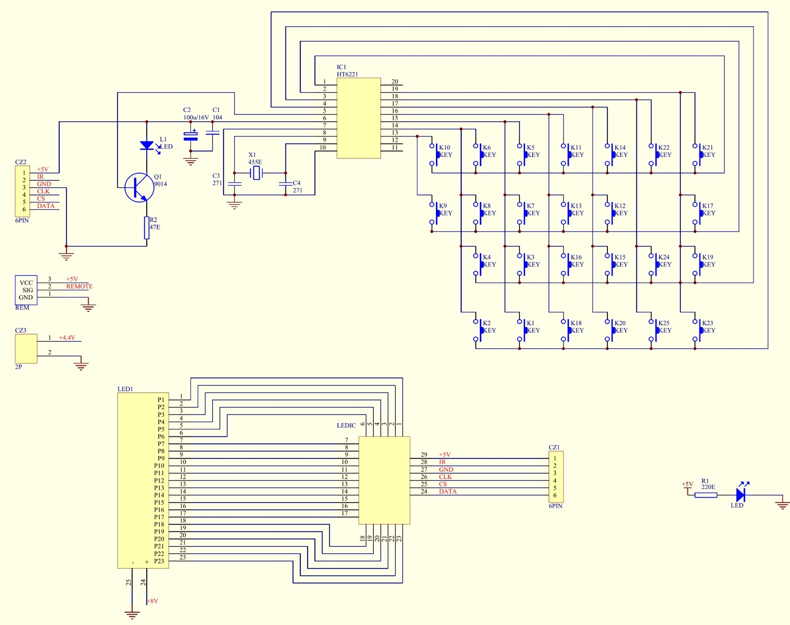 untitled.bmp schematic diagram circuit diagram universal remote control setup
