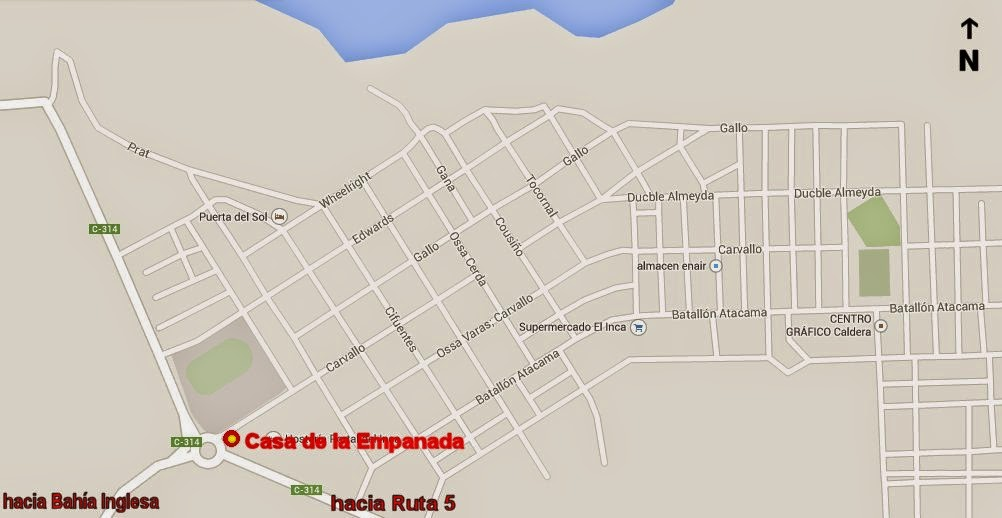 Casa empanada caldera mapa ubicacion