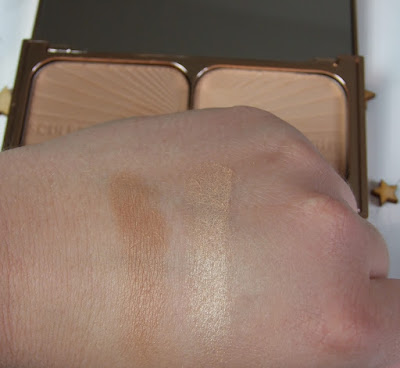 charlotte tilbury filmstar bronze and glow swatches beauty blog review contour sculpt