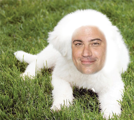 Jimmy Kimmel as a puppy