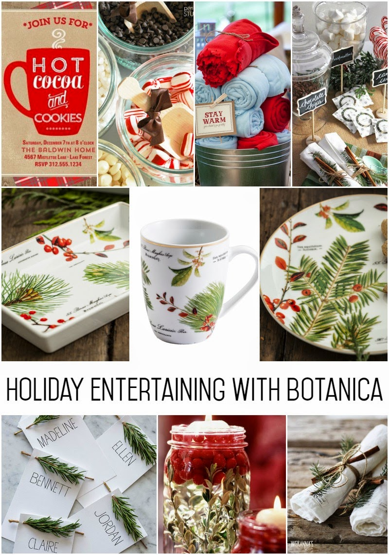 Holiday Entertaining With the Rosanna Botanica Collection