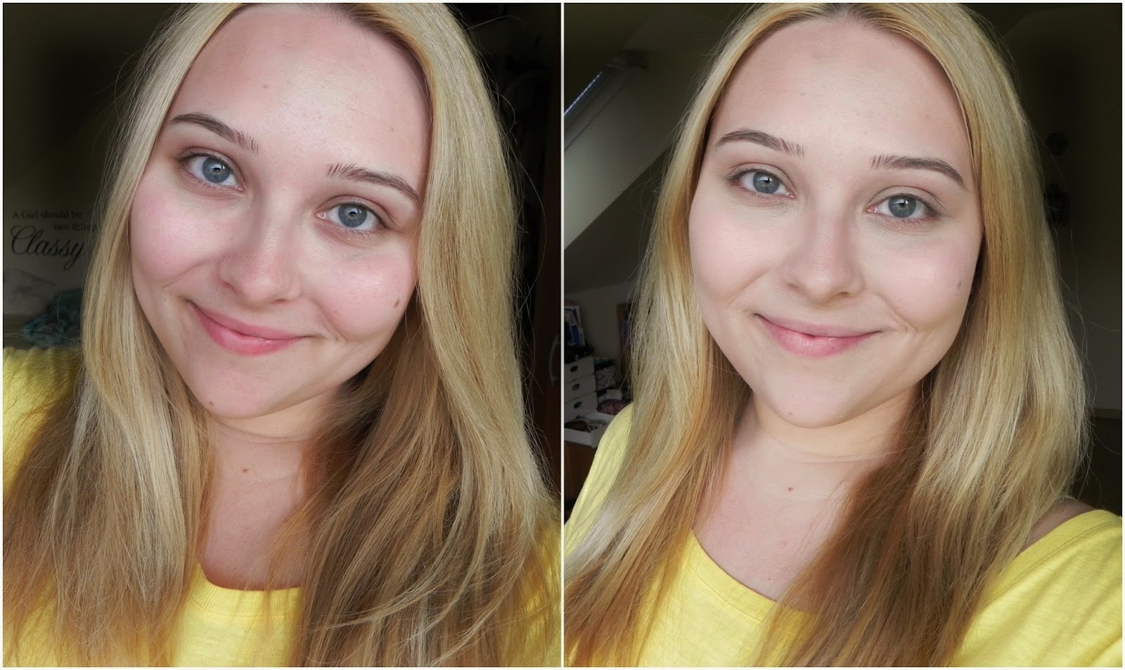 Rimmel Wake Me Up Foundation Review ivory before after