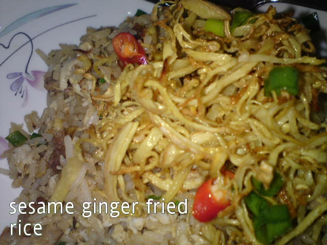 Cooking Pleasure: Sesame Ginger Fried Rice