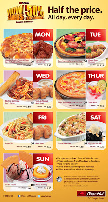 Pizza Hut All Day Everyday half price offer