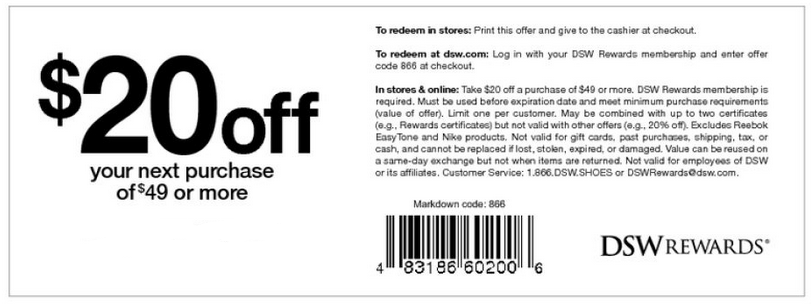 Dsw discount coupon