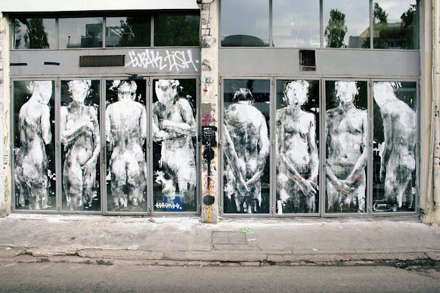 """""""Shame"""" New Street Art By Borondo On The Streets Of Athens, Greence. 1"""