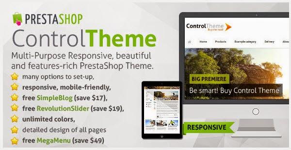 Responsive PrestaShop Theme + Blog