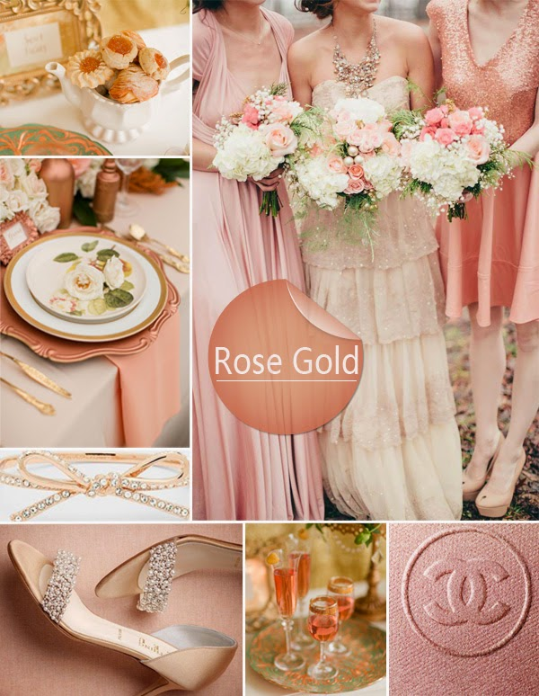 The wedding decorator rose gold wedding inspirations - Rosegold dekoration ...