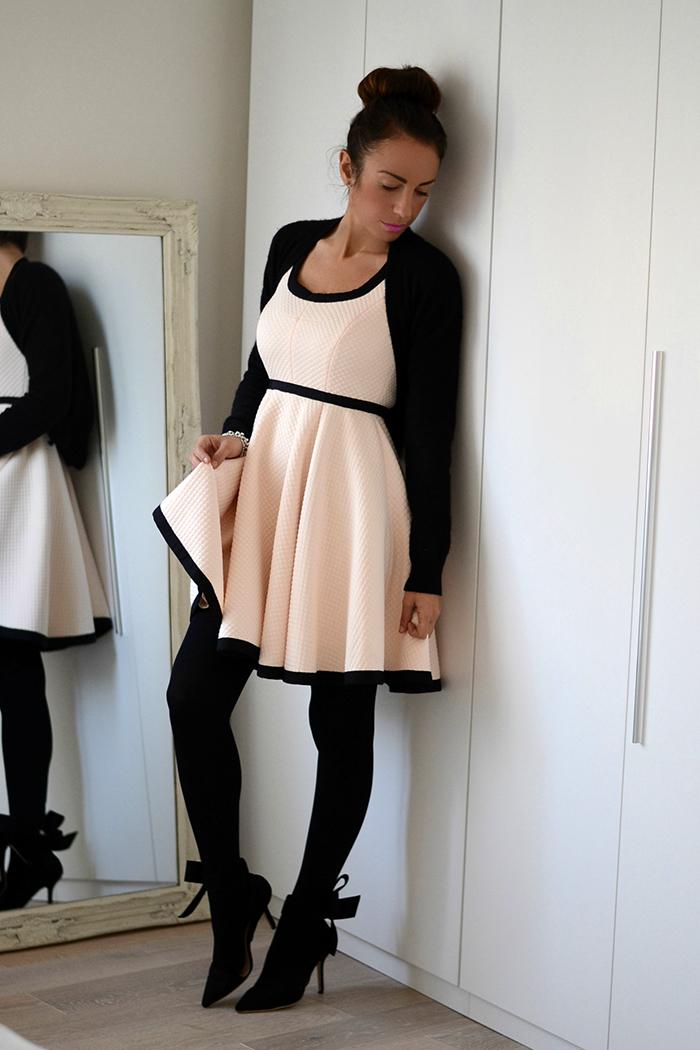 abito con sottogonna tulle