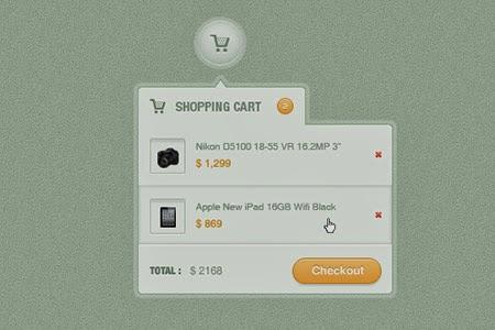 Shopping Cart Dropdown