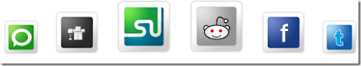 Beautiful and Awesome Social Networking Buttons Below Posts