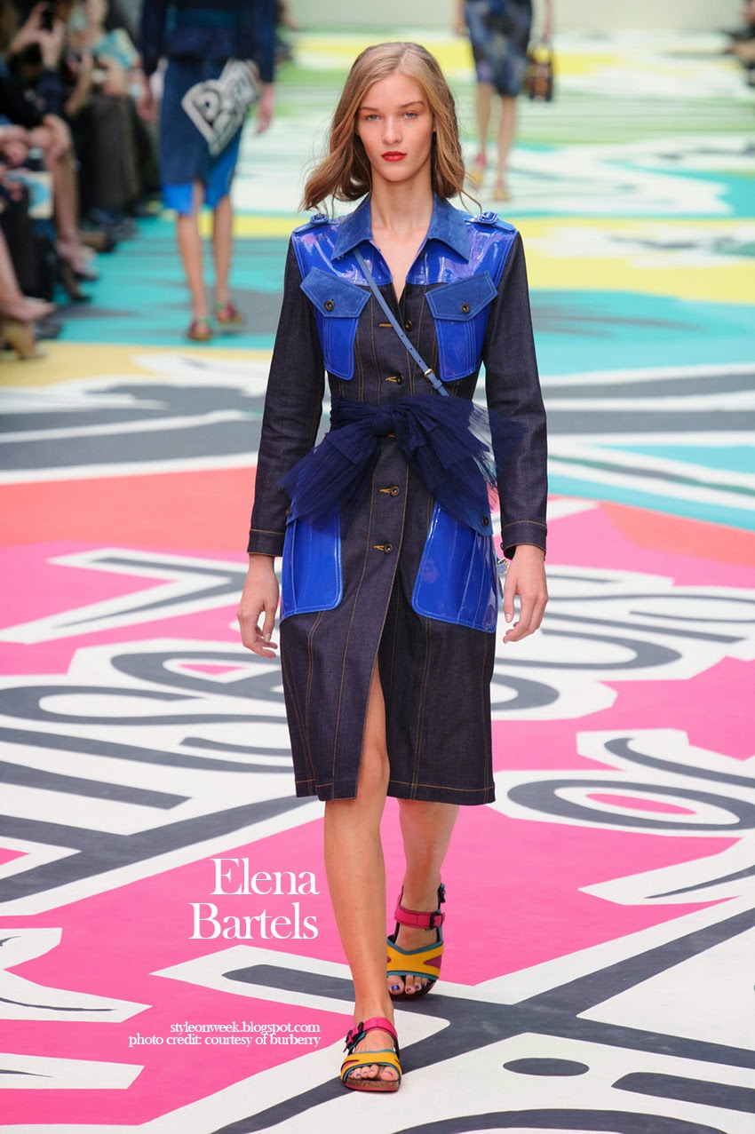 Elena Bartels at Burberry Prorsum Womenswear Spring-Summer 2015 Collection Look