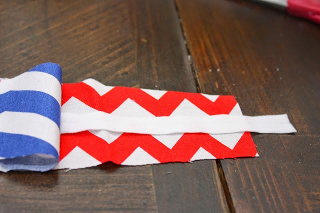 how to sew a chevron fabric headband