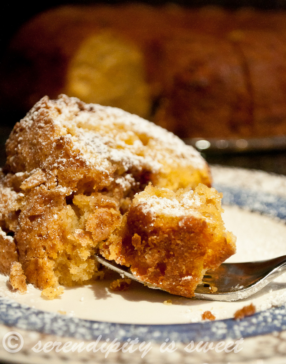 Serendipity is Sweet: Sour Cream Pumpkin Spice Coffee Cake ...
