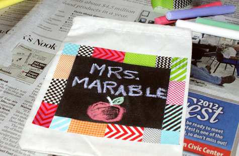 DIY Teacher Gift Bag - DIY Chalkboard Paint Project