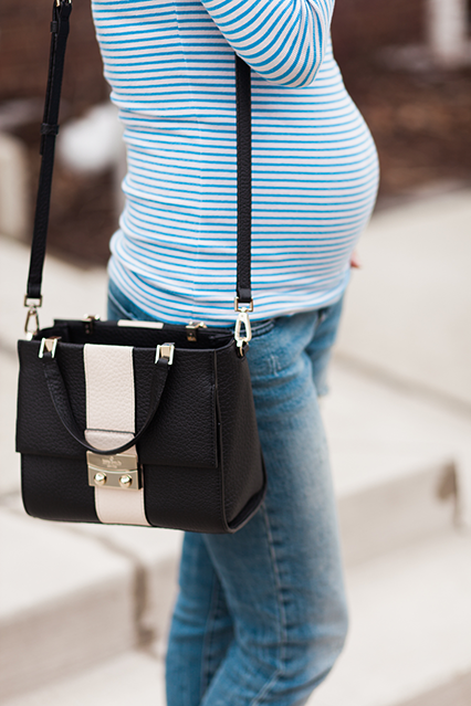 spring fashion, maternity fashion, maternity style, bump style, pregnancy outfits, nashville blogger, fashion blogger, nashville street style, gap maternity jeans, kate spade cross body, spring purse