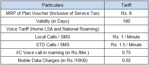BSNL New Lifetime Prepaid Mobile Plan at Rs.8