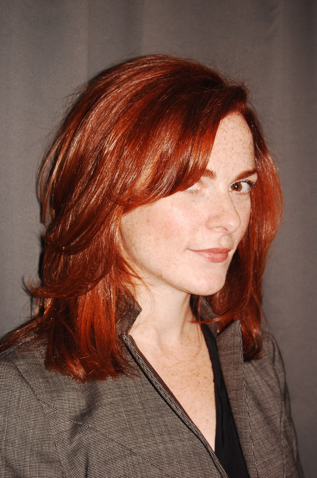 Natural Red Hair with Lowlights