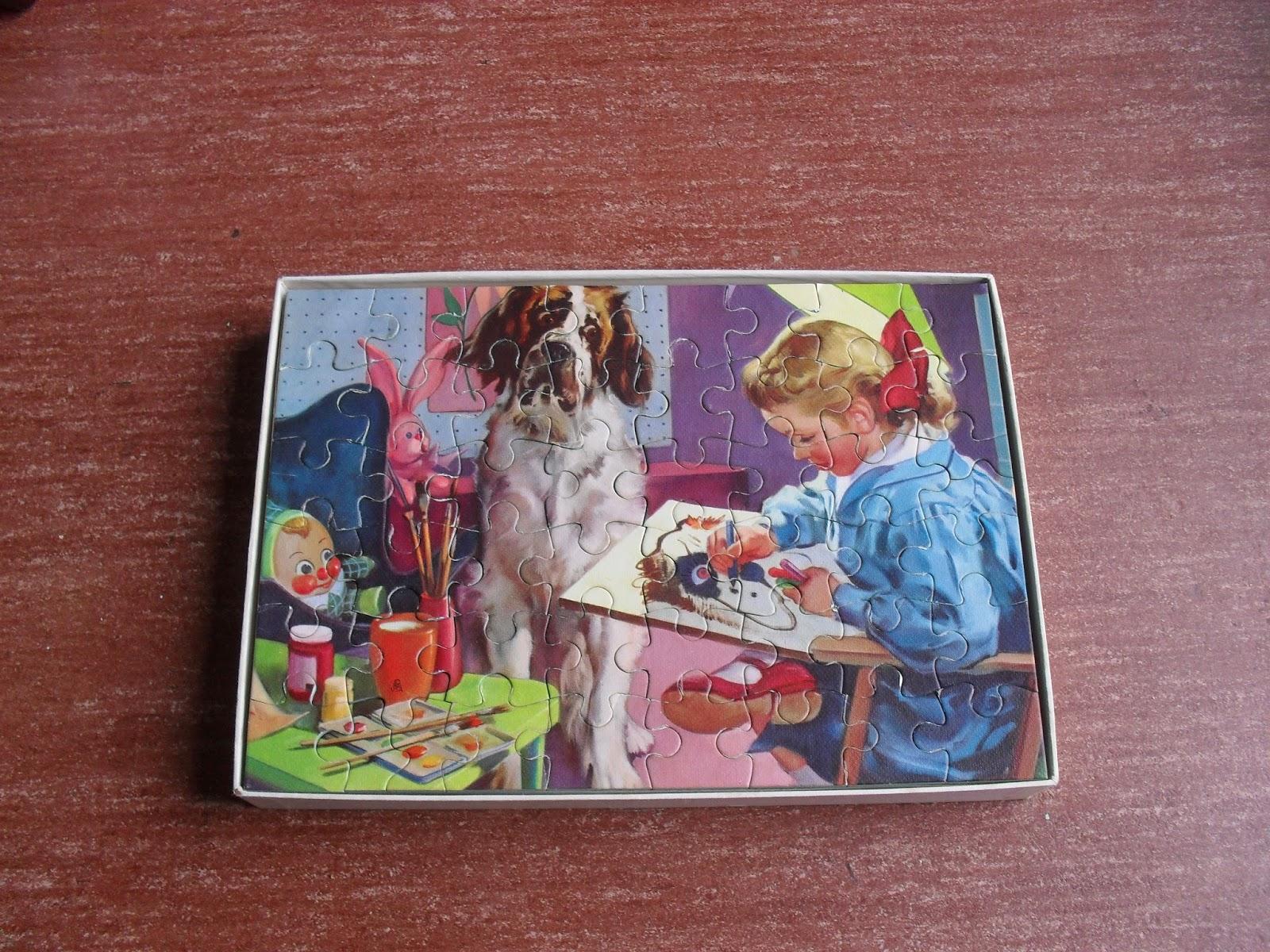 meisje schildert hond