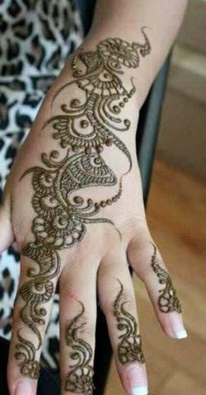 Modern Arabic Mehndi Designs 2014 : She latest arabic mehndi designs for hands