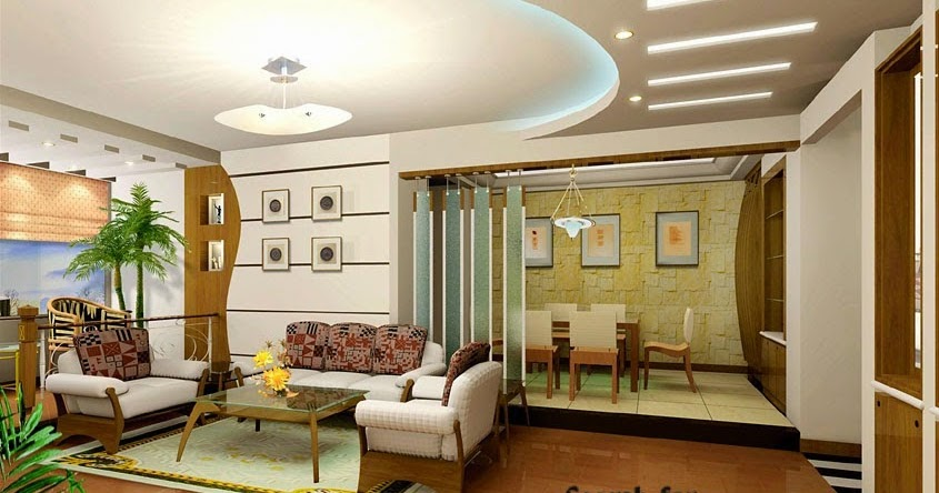 Stylish fall ceiling designs of plasterboard in the interior for Interior fall ceiling designs