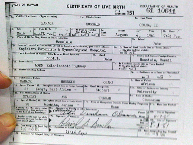 Acv democratic news obama picks kaine to run for senate obamas long form birth certificate yelopaper Image collections