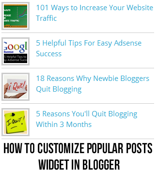 How to Customize Popular Posts Widget in Blogger