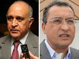 Pesquisa aponta empate entre os candidatos a governador da Bahia Rui Costa e Paulo Souto.