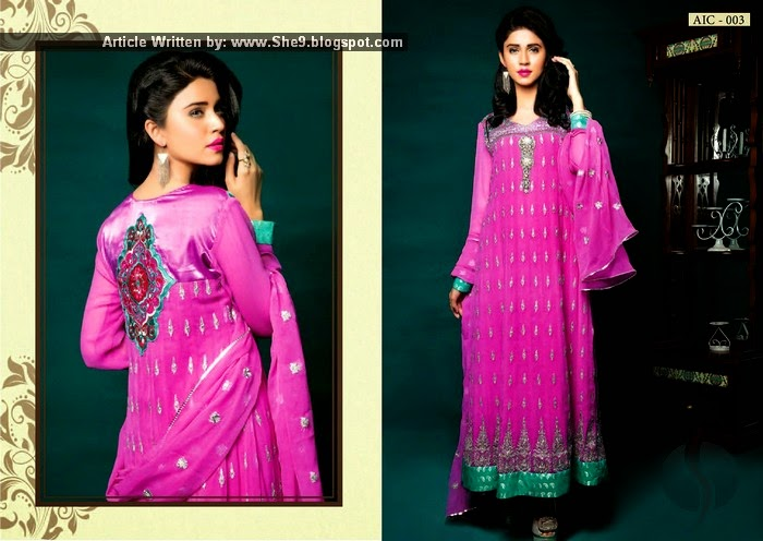 Semi Stitched Chiffon Winter Collection 2014-2015