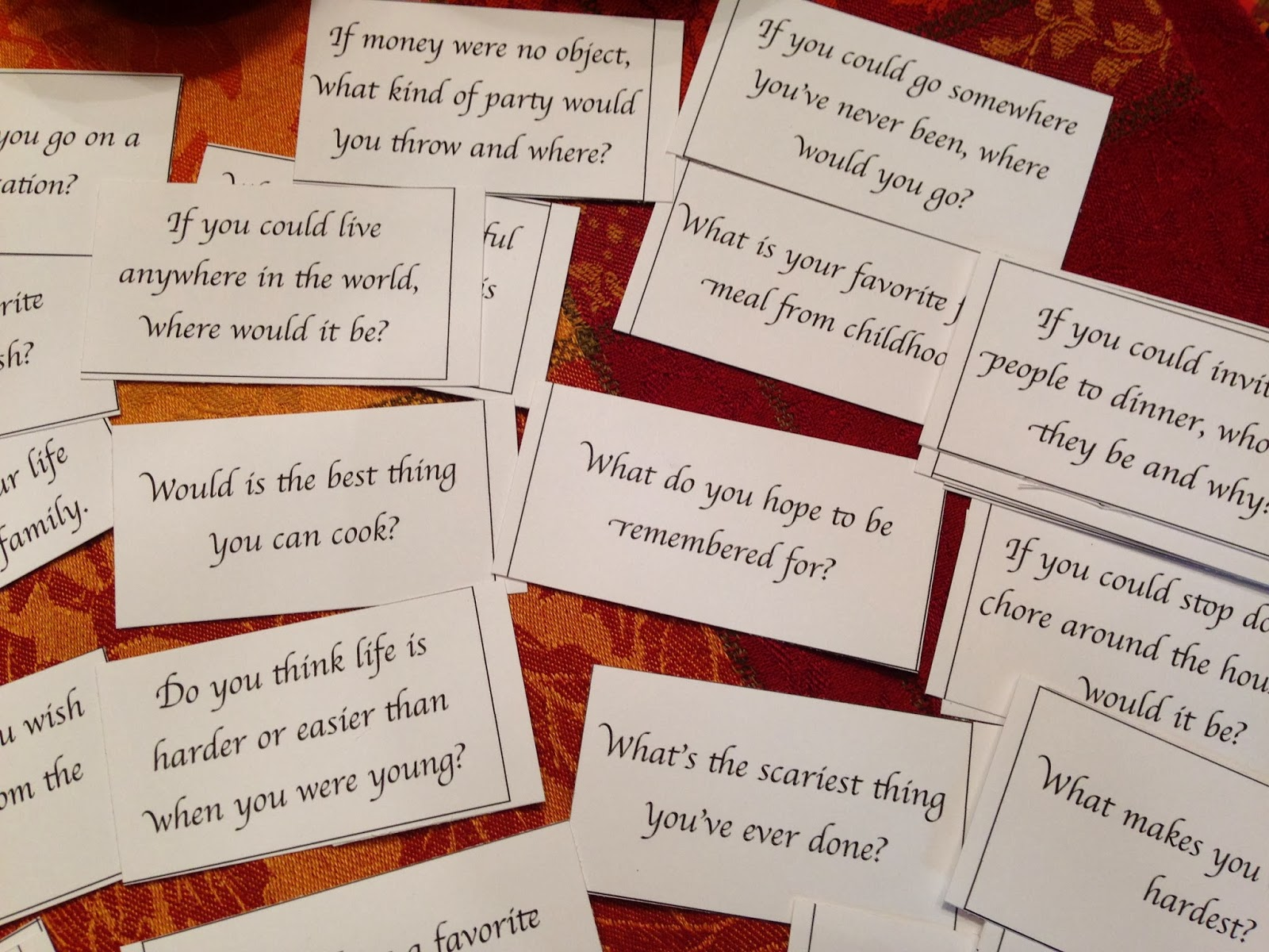 Hope floats and more ideas for the 39 kid 39 s table 39 the for Table questions