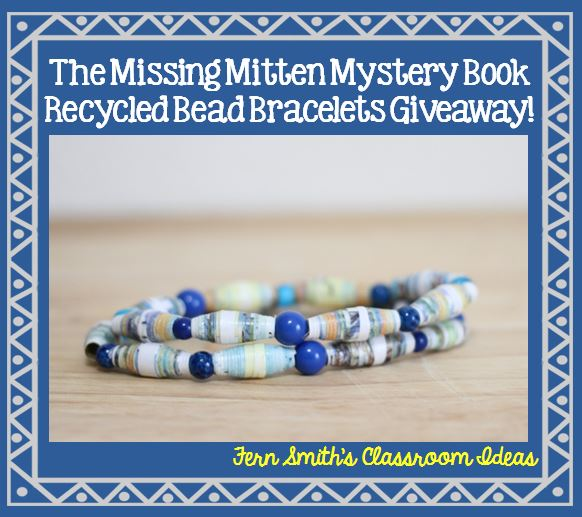 Fern Smith's Classroom Ideas Missing Mitten Mystery Book Bracelet Set Giveaway!