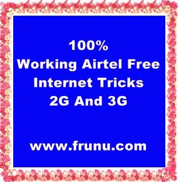 airtel tricks,free airtel internet,airtel free internet,airtel free net pack