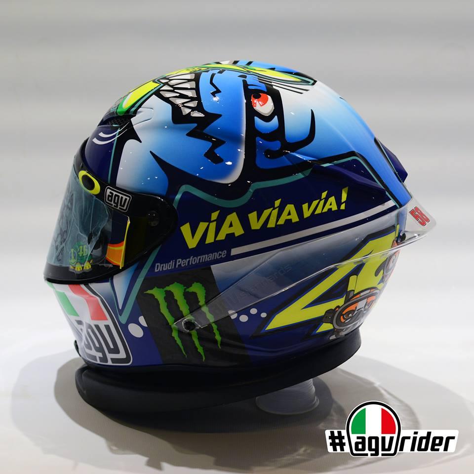 racing helmets garage agv pistagp vrossi misano 2015 by