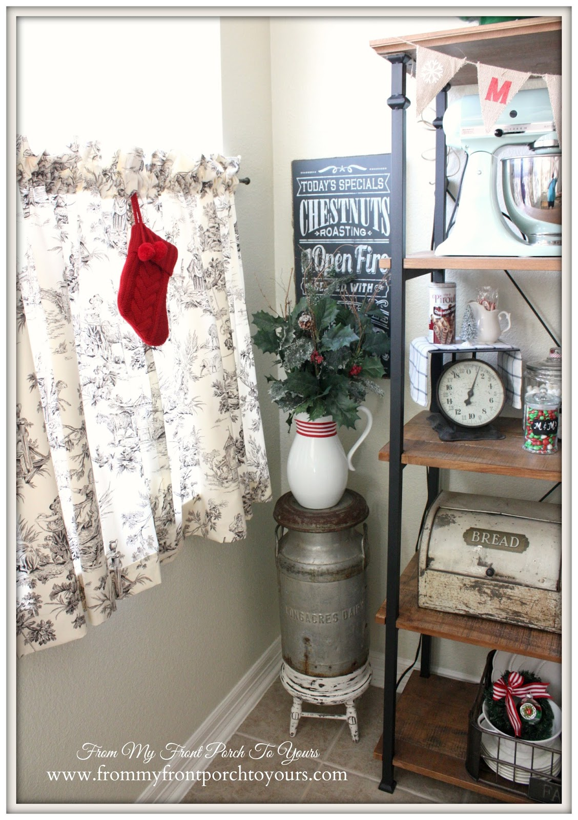 French Farmhouse Christmas Kitchen- From My Front Porch To Yours